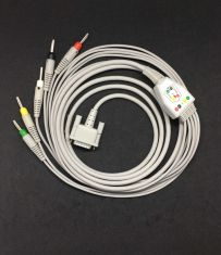 BPL Digi(15Pin) - 5 Lead Ecg Cable -4mm Banana Pin