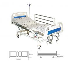 Mechanical ICU Bed with ABS Panel and S.S Railings   (Al- M07)