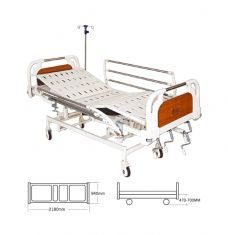 Mechanical ICU Bed with Heavy ABS Panel & S.S Railings   (Al-M07H)