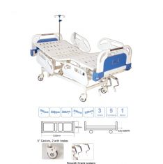 Electric ICU Semi Bed with Heavy ABS Panel & ABS Railing (Al-SE05H)