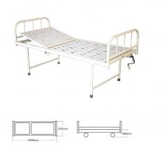 Mechanical Semi Fowler Bed with Tubular Head and Foot Bows