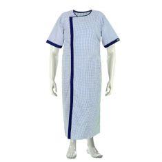 Cotton Patient Gown  (Color Blue)