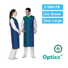 Double Sided Lead apron 0.5_mm Pb Lite green Large