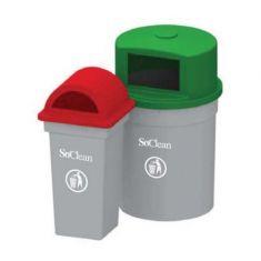 Large outdoor garbage bins