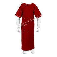 ICU Patient Gown Colour- Maroon