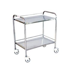 Instrument Trolley (S.S) with two shelves