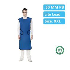 Lead Apron Coat 0.50mm Pb Lite lead Size - XXL (W/G 75 L-115cm)