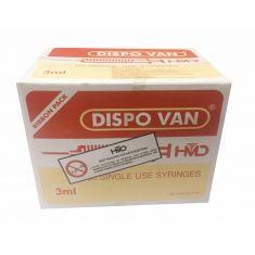 Dispo Van Syringe with Needle - 3ml