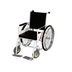 Wheel chair Non-folding with safety belts With M.S.Frame with big rear spook wheels