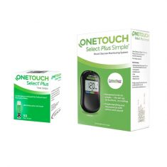 OneTouch Select Plus Simple Glucometer with  (50 Strips)