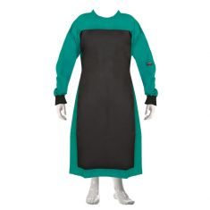 OT Gown with Makintosh  (Color Green/Black)
