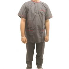 OTBliss Round - Neck Scrub Suit Color Grey
