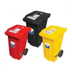 Waste Bins with foot Paddles & Wheels - 120 Liters