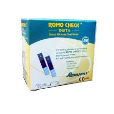 Romo Check INSTA Blood Glucose Test (50 Strips) by Romson