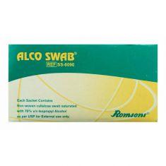 Romsons Cotton White Alco Swab, 1 cm x 0.5 cm x 1 cm
