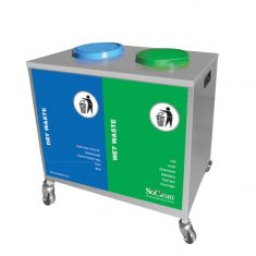 Stainless Steel Body for easy Collection of Segregated waste