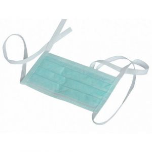 Premium Disposable 3 Ply - Tie On Face Masks with nose pin