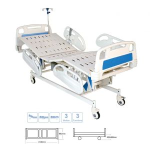 Electric ICU Bed with ABS Panel & ABS Railing with three positioning   (Al-E04)