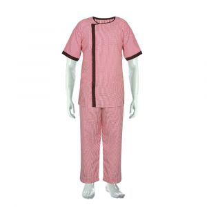 Cotton Patient Gown with Lower (Colour Maroon)