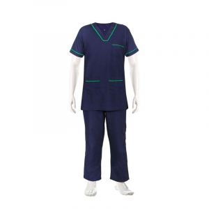 V - Neck Scrub Suit  (Color Dark Blue)