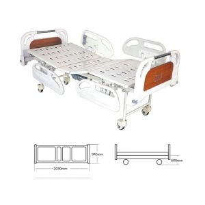 Electric Fowler Bed with Heavy ABS Panels & ABS Railings