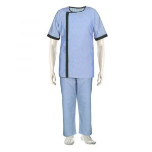 Cotton Patient Gown with Lower (Colour Blue)