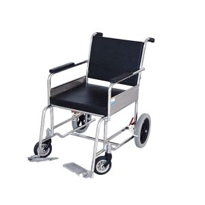 Wheel chair Non-folding with safety belts With S.S.Frame with Small rear  wheels