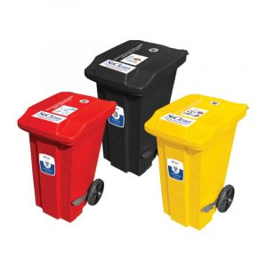 Waste Bins with foot Paddles & Wheels