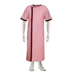 Cotton Patient Gown  (Colour Maroon)