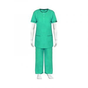 Round Neck Scrub Suit - Color Green
