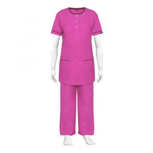 Round Neck Scrub Suit (Colour Pink)