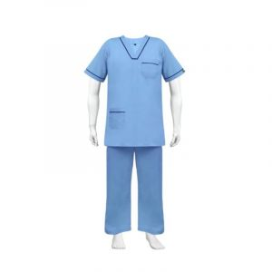 V - Neck Scrub Suit  (Color Sky Blue)