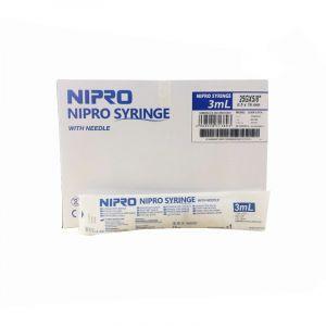 Nipro 3ml syringes with needle