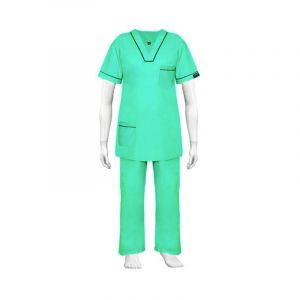 V - Neck Scrub Suit  (Color Green)