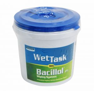 Wettask with Bacillol 25 - Presoaked Hygiene surface disinfection wipes